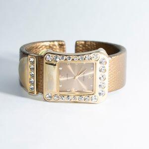 Accessories - Gold and Rhinestone Watch